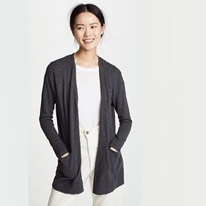 MADEWELL Long Gray Knit Ryder Cardigan Sweater